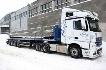 Kuljetus Arto Järvimäki Oy luottaa SDC:n avoperävaunuihin betonielementtien kuljetuksissa